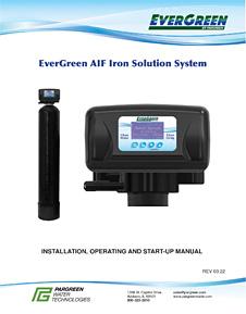 Pargreen AIF Iron Filter Manual